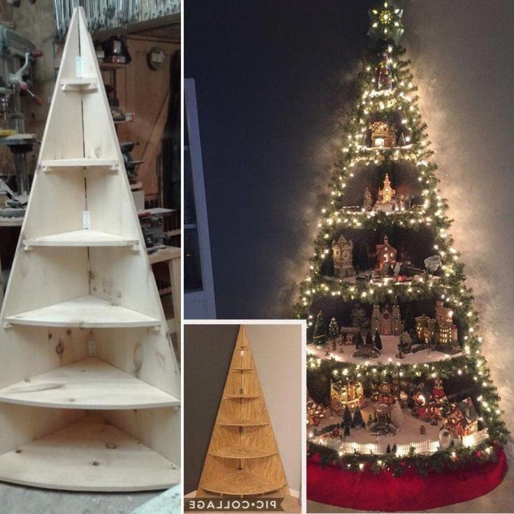 Shelving unit for corner all the year. Christmas tree for a merry Christmas 🎄…