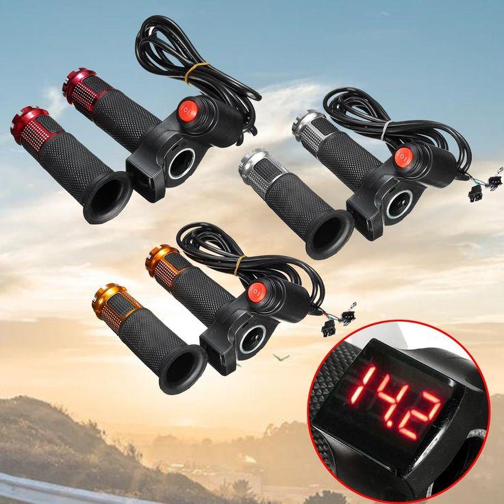 EBike Scooter Elektrische Throttle Grip Stuur 24 V 36 V 48 V 60 v LED Digitale Meter 3 Speed 2 STKS