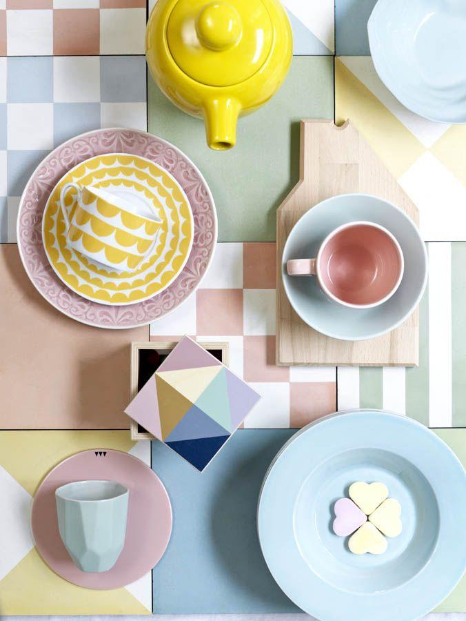 Geometria y colores delicados. Una decoracion perfecta para el verano