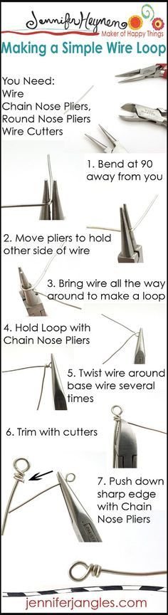 Jewelry Making Basics : Making A Simple Wire Loop #jewelrymaking