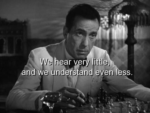Casablanca Movie sayings   Movie casablanca quotes and sayings hear understand - Words On Images ...