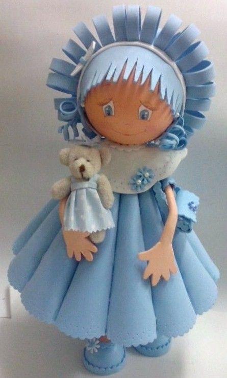 muñequita azul de http://contelitas.blogspot.com.es/