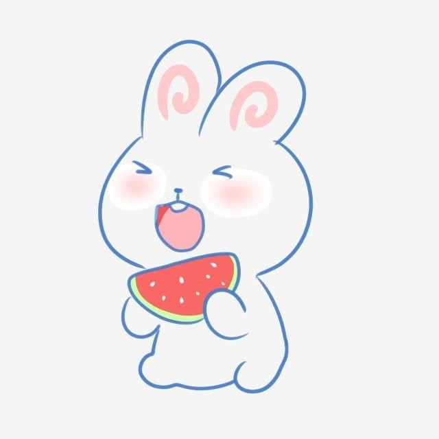 Cute Cartoon Rabbit Eating Watermelon Cute Cartoon Rabbit Png Transparent Clipart Image And Psd File For Free Download Rabbit Cartoon Cute Cartoon Cartoon Candle