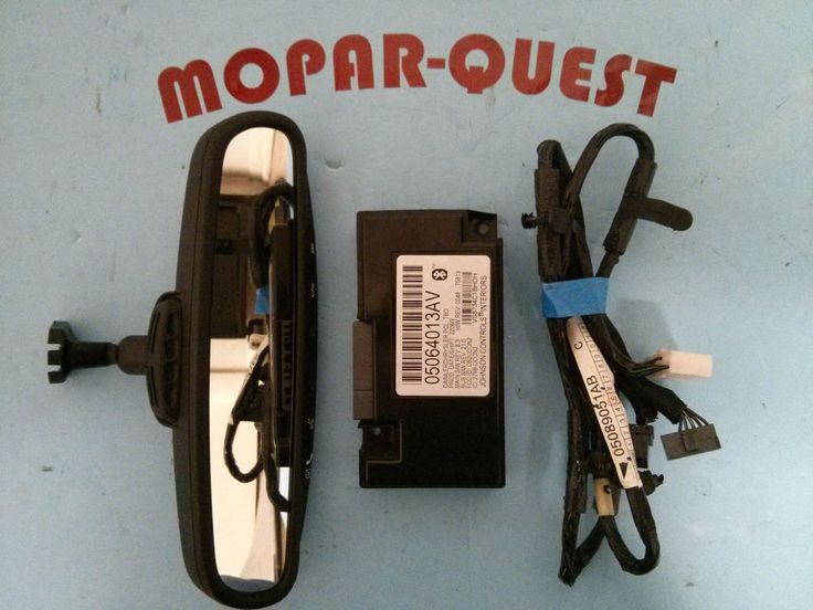 Chrysler Dodge OEM Auto dim, Hands Free Bluetooth Comm Mirror Kit 04806228AB #Chrysler