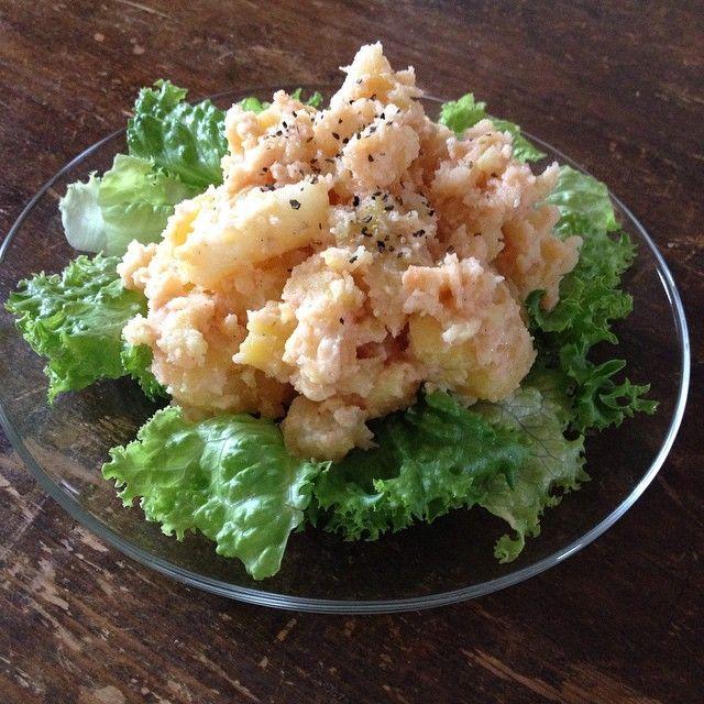 日本のタラモサラタ(ダ) Japanese taramasalata, big gap between this dish and the original  #yummy #homemade #healthy #taramasalata #greekfood #greece #codroe #おいしい #手作り