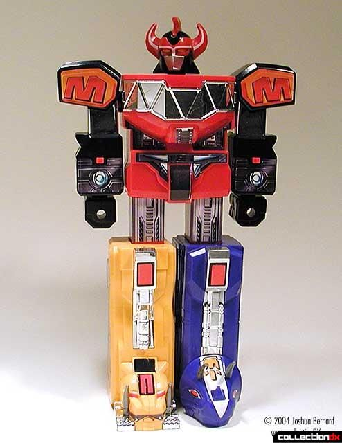 I had the deluxe Megazord, which actually had 5 robots merge together. At the time, Transformers were in a bit of a funk, so I had to make do. Until then, the Megazord went a few bouts with Optimus Prime and Metroplex, and usually ended up with chipped paint and cracked plastic.