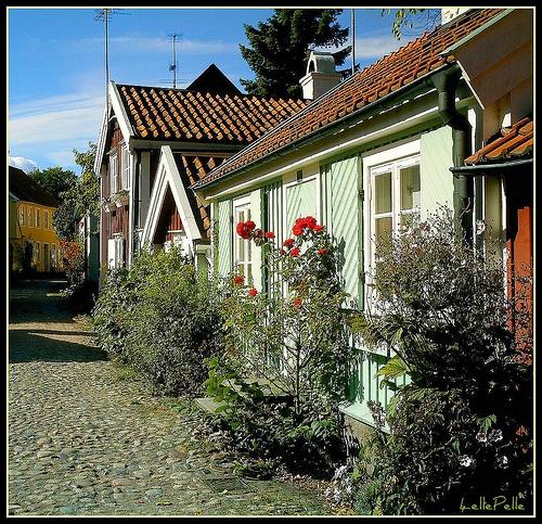 Kalmar, part of old town. so idyllic...