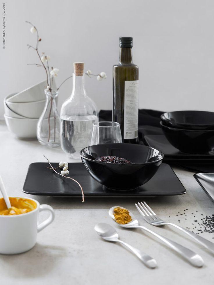 Hur ser upplägget ut för din nästa måltid? Prova att mixa nya former och färger på det dukade bordet och inspireras till nya kulinariska utmaningar.