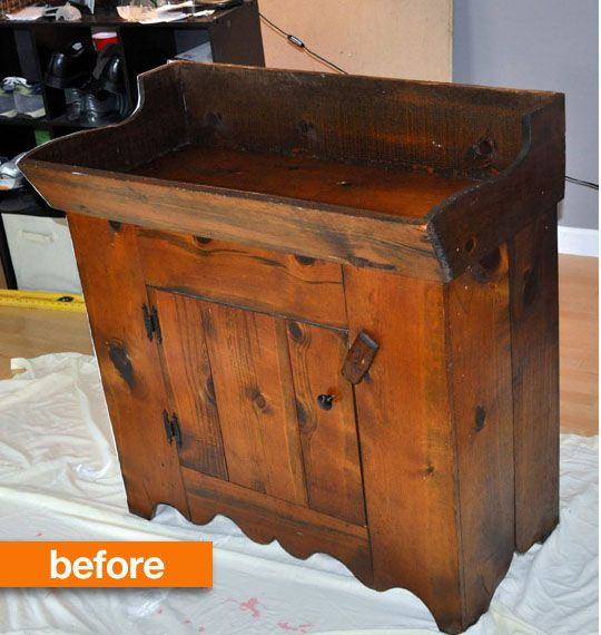 Before Amp After From Antique Dry Sink Into Changing Table