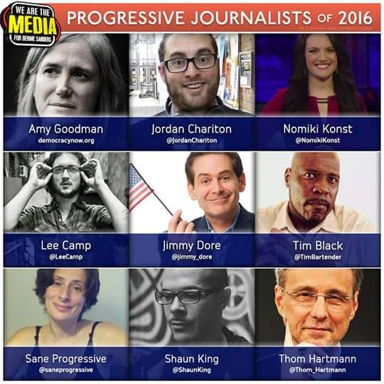 Also, don't forget Abby Martin, The Humanist Report, and Secular Talk.