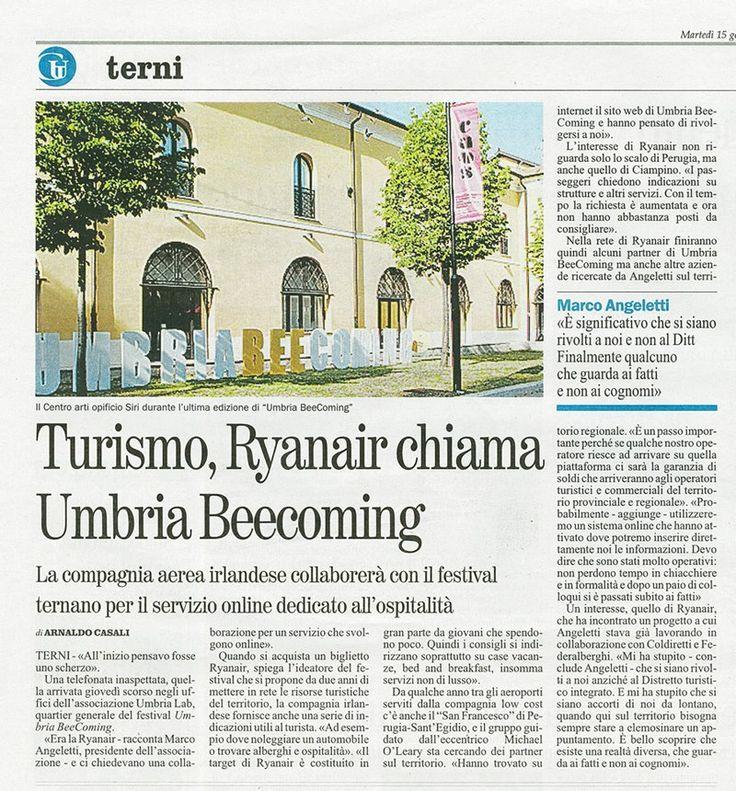 #turismo #Umbria #GiornaleUmbria #Ryanair