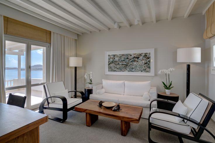 Deluxe Seaview Suite Living Area | Santa Marina, A Luxury Collection Resort, Mykonos
