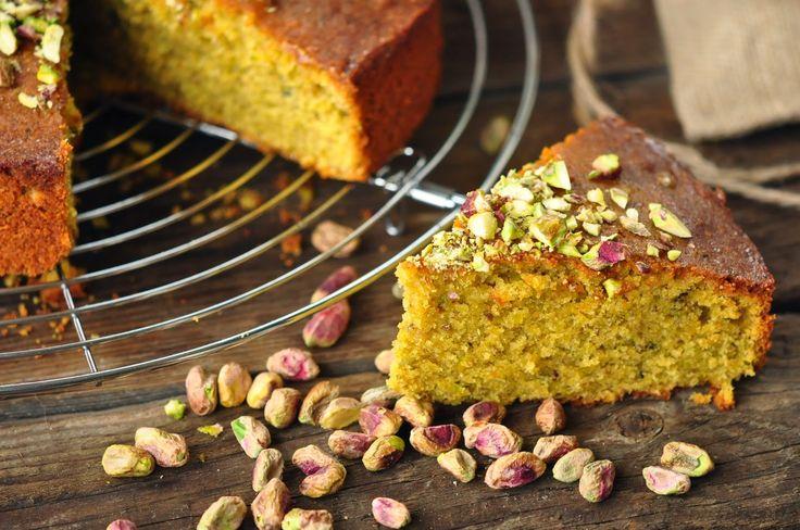 Voyage au pays de la patisserie: Pistáciový koláč s limetou a kardamomem