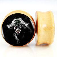 The Killing Joke Wood Ear Plug Fit GaugesTappi Per Le Orecchie Body Piercing Jewelry 6mm-25mm FF180
