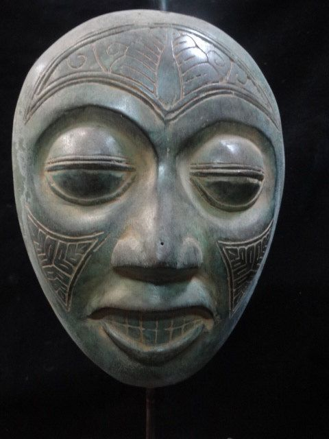 Bronze Mask Mystic Expression Javanese Indonesian by ubudexotica