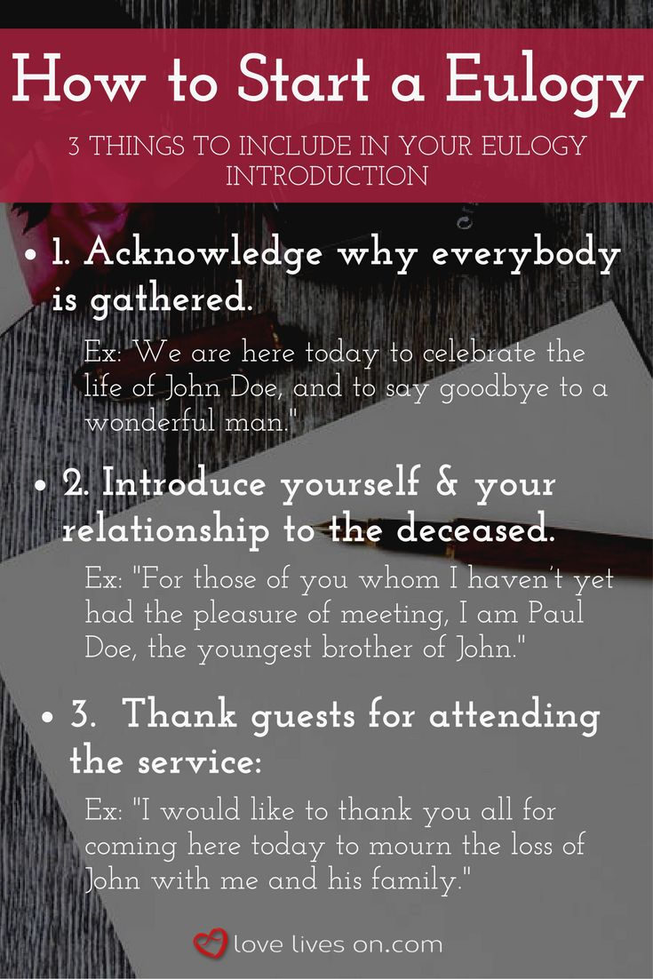 how to write funeral speech With a little planning and research, you can write funeral eulogies that will be remembered and pay great tribute to a friend or loved one we can help.