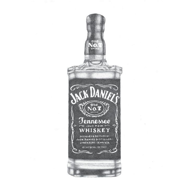 jack daniels bottle drawing - photo #8