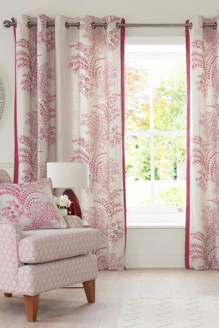 Buy Elegant Trail Print Eyelet Curtains From The Next UK Online Shop