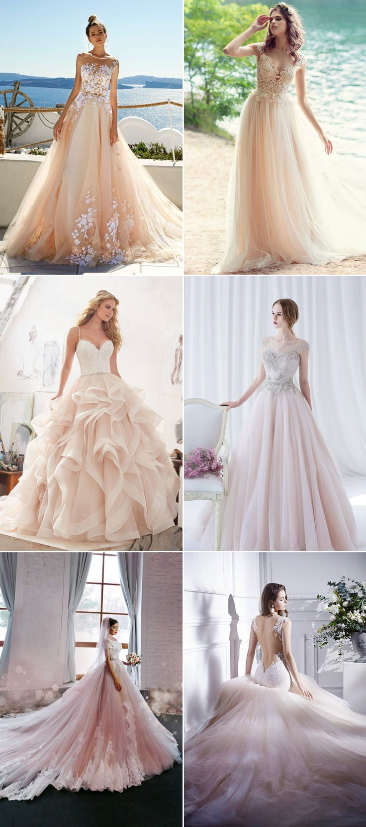 Different color wedding dress