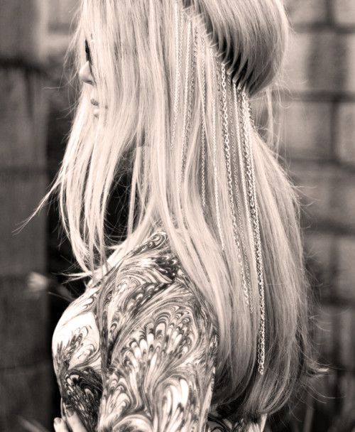Заколки - цепочки для волос своими руками