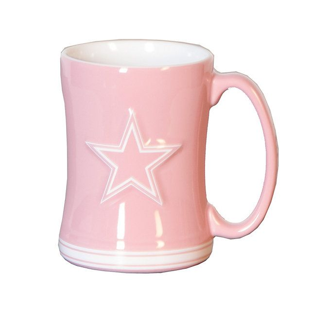 Valentine's Idea: Dallas Cowboys Pink Coffee Mug at shop.dallascowboys.com.