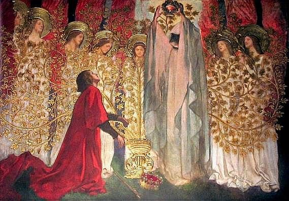 """The Golden Tree and the Achievement of the Grail"" by Edwin Austin Abbey"