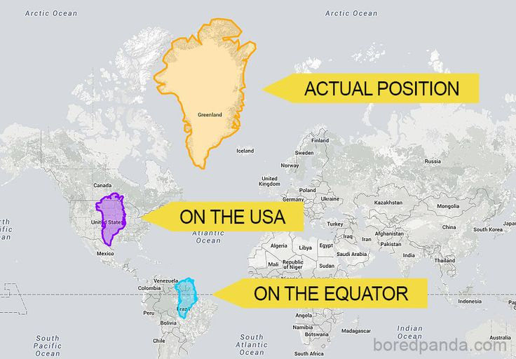 Greenland Is Not So Big When Compared To USA And Brazil