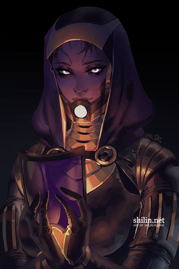 Tali from Mass Effect, by Shilin
