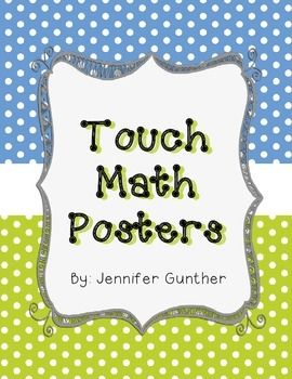 touch math posters freee math ideas pinterest touch math math poster and math. Black Bedroom Furniture Sets. Home Design Ideas