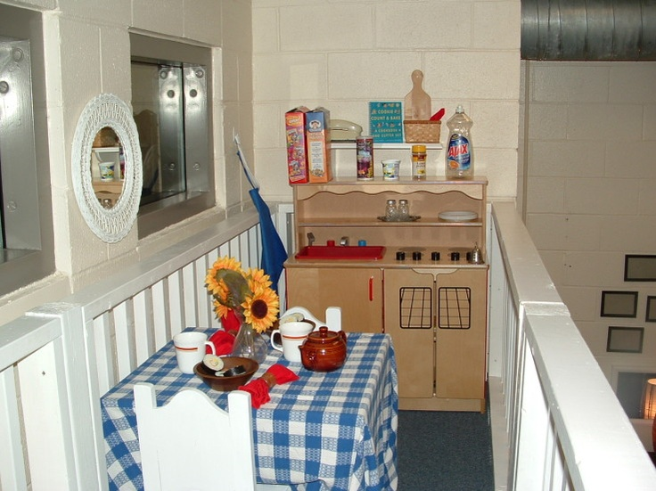 53 best images about prek housekeeping and dramatic play for Daycare kitchen ideas