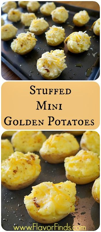 Stuffed Mini Gold Potatoes - FlavorFinds.com  healthy recipes, diet recipes, easy recipes, dinner recipes, easy weekday recipes, low fat recipes, gluten free recipes, potato recipes, appetizer recipes, healthy appetizer recipes, stuffed potatoes, twice baked potatoes #appetizer