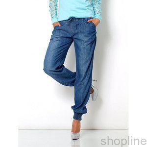 Jeansowe rurki spodnie jeansy pumpy