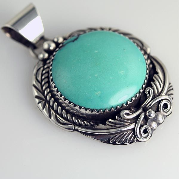 Native American Jewelry, Turquoise Pendant