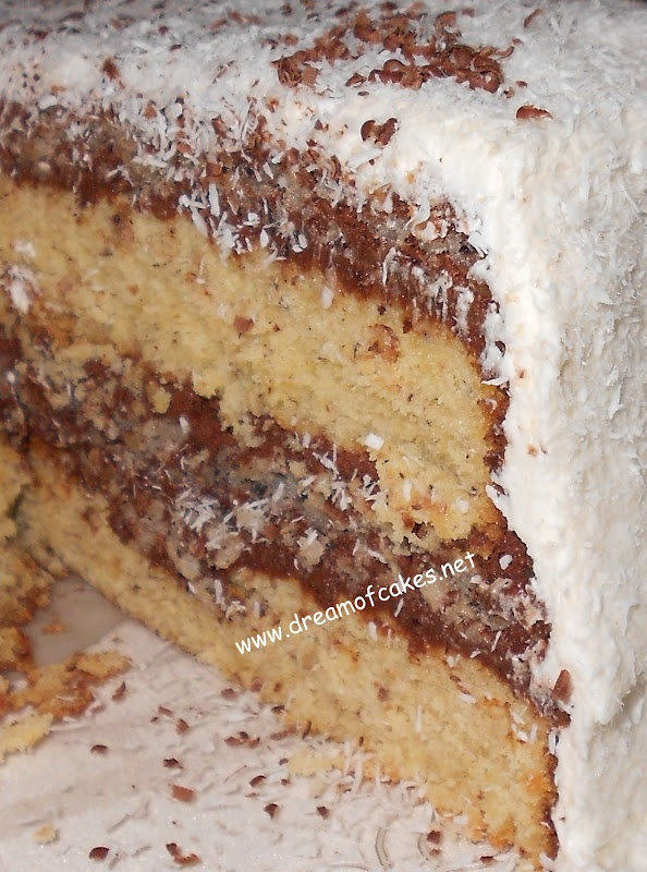 Chocolate Cake With Coconut Flakes
