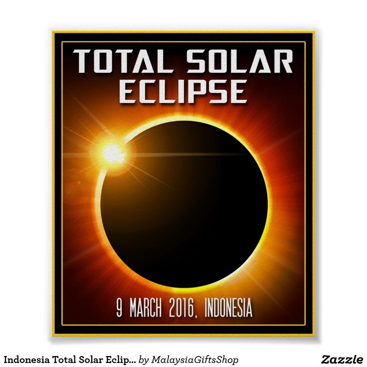 Indonesia Total Solar Eclipse (2016) Poster