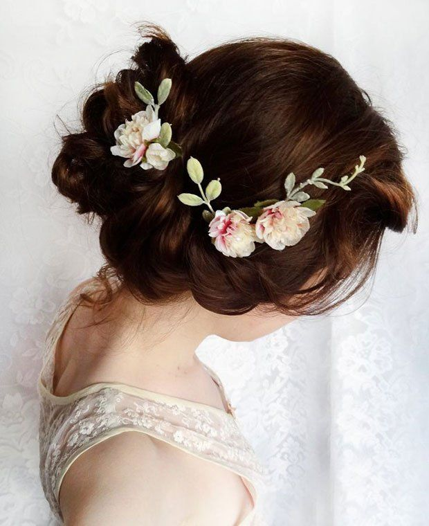 Romantic Floral Up Do | Hairstyle | Bridal Hair | http://blog.thelovelustlist.co.uk/15-wedding-hairstyles-for-the-modern-bride-blow-ltd/