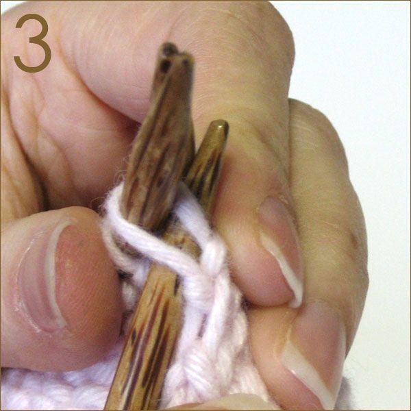 3 Needle Bind-off knitting method