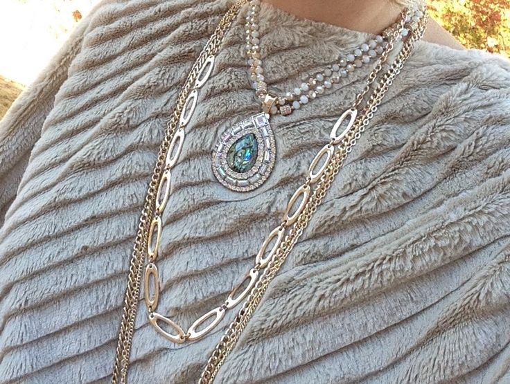 jewelryladykim.mypremierdesigns.com  Sway doubled with clip it Mesmerized reversible pendant Gold strand of Twice as Nice Gold strands from Belize Faux fur poncho