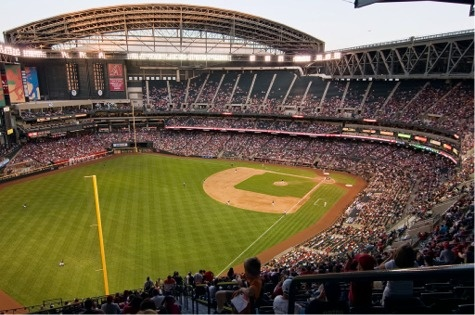 Opening in 1998, Chase Field was the first stadium ever built to have a retractable roof and natural grass. Home of the Diamondbacks