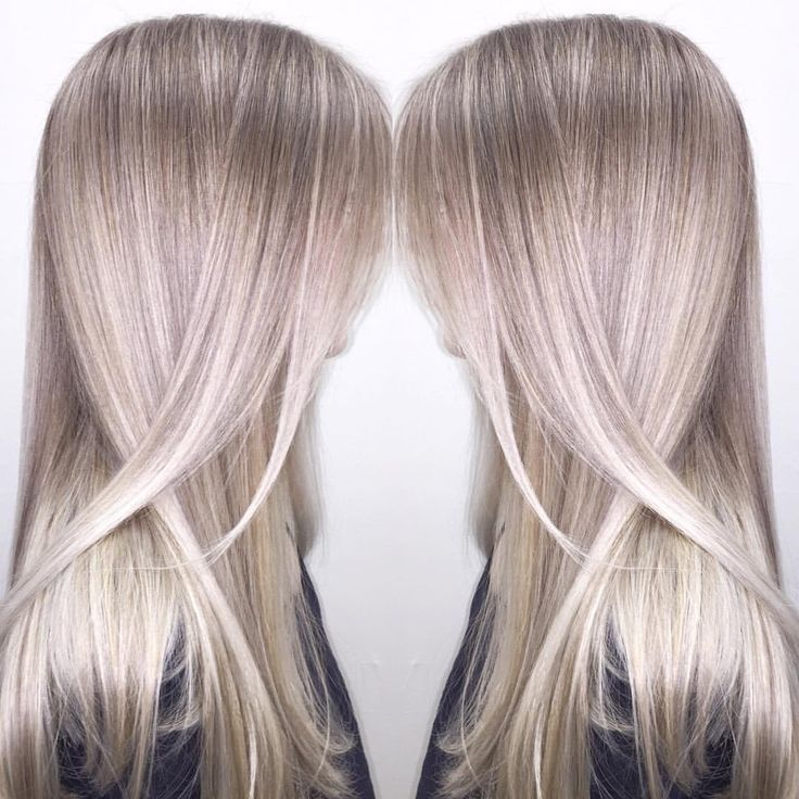 """Ash blonde achieved with babylights, in-foil balayage, and freehand balayage. The mix of these 3 techniques creates the most beautiful, bright color with…"""