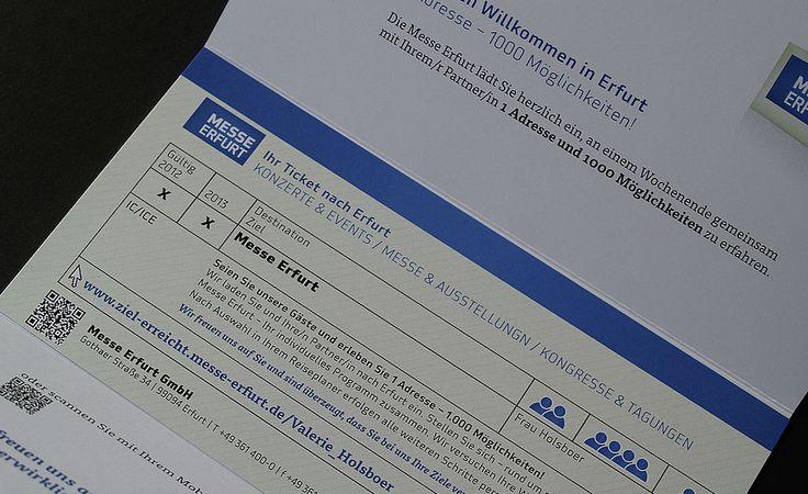 personalisiertes Mailing für Messe Erfurt