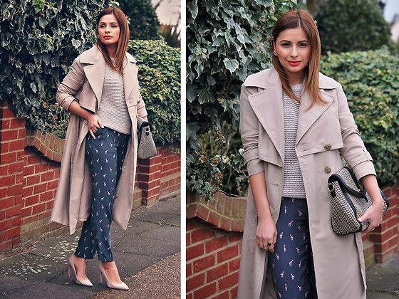 Get this look: http://lb.nu/look/7935160  More looks by Elena Sandor: http://lb.nu/eileen08  Items in this look:  Laura Ashley  Jumper, Laura Ashley  Trousers, Laura Ashley  Bag, Primark Coat, Topshop  Heels   #casual #chic #classic #nude #feminine #elegant #street #streetstyle #streetfashion