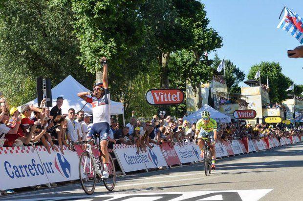 17/07/2016 - Etape 15 - Bourg-en-Bresse/ Culoz (160 km) - Jarlinson PANTANO (IAM CYCLING) s'impose à Culoz