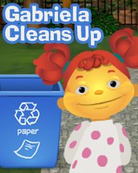 Sid the Science Kid (This game, Gabriela Cleans Up, is about recycling and can teach students to recycle or reuse what they have.) There are other games on PBS.org as well.