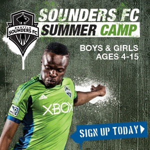 Hey kids come train like the first team!  Sounders FC Summer Camps presented by Group Health and adidas are now open to registration.  Have fun, improve your skills, and have a chance to meet players.  There are camps across the state of Washington for players of all skill levels aged 4 – 15.  Space is limited so sign up today at soundersfc.com/camps