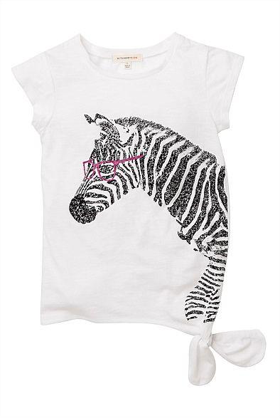 Chloé <3 this Glitter Zebra Print Tee #witcherywishlist