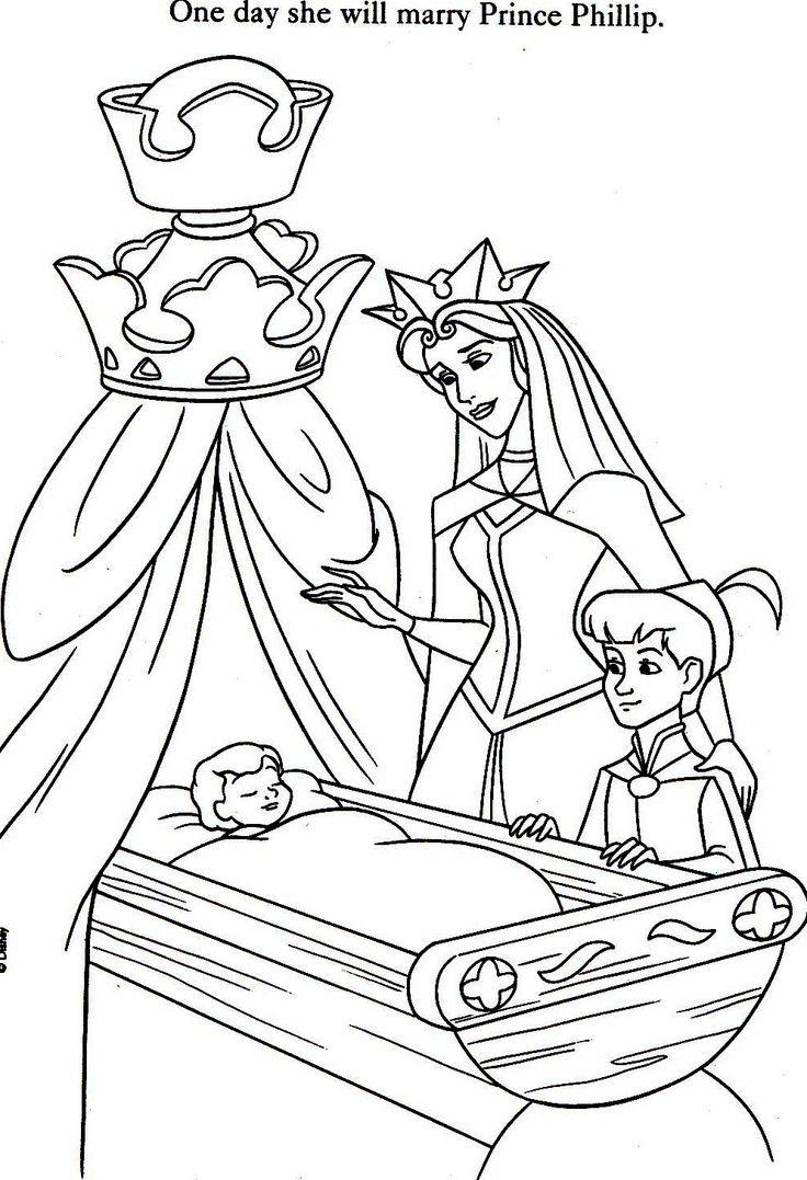 coloriage la belle au bois dormant  Kleurplaten, Disney, Sprookjes