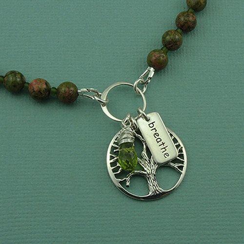Gemstone Beaded Tree of Life Necklace: Handmade Beadwork, Gemstone Beads, Silver Handmade, Life Necklaces, Necklaces Sterling, Beadwork Jewelry, Beads Jewelry, Beads Trees, Jewelry Beads