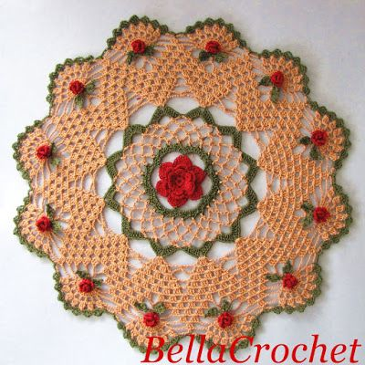 BellaCrochet Mavanee's Roses A Free Crochet Pattern For You Best Crochet Design Patterns