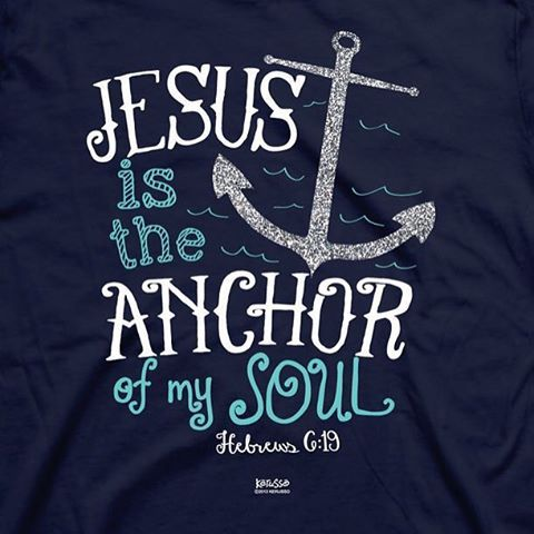 "HOPE verse 4. ""We have this hope as an anchor for the soul, firm and secure. It enters the inner sanctuary behind the curtain,"" ‭‭Hebrews‬ ‭6:19‬ ‭NIV‬‬ #dbvabcs Photo: Mardel"